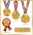 Gold medal set vector