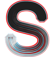 Abstract font letter s vector