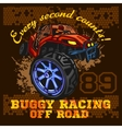 Dune buggy riders - off road badge vector