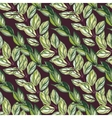 Watercolor seamless pattern with green leaves vector