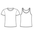 T-shirt and singlet template vector