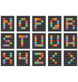 Square alphabet set 2 vector