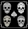 Bundle skull ornamental vector