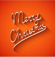 Text design of merry christmas on red color vector