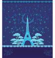 Paris in night vector