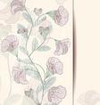 Flower design card vector