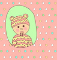 Baby shower card design little cute girl in vector