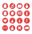 Medical silhouette pictogram and health colorful vector
