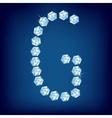 diamond alphabet letter g vector