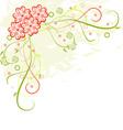 Grunge floral frame vector