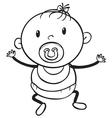A baby sketch vector