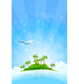 Tropical island background vector