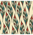 Seamless pattern with bright feathers vector