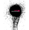 Grunge silhouette background banner ink stain blot vector