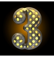 Metal with glow dots figure 3 vector