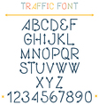 Traffic font letters vector