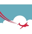 Retro airplane banner vector