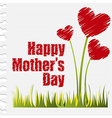 Hearts flowers happy mothers day vector