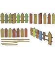 Wooden fence cartoon vector