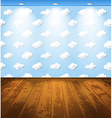 Room with clouds vector