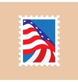 Postage stamp with the american flag vector