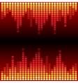 Red and orange digital equalizer background vector