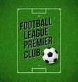 Soccer football poster soccer football field vector