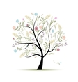 Spring tree floral for your design vector
