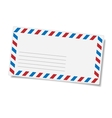 Blank mailing envelope vector