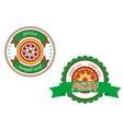 Italian pizza banners vector