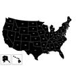 Map usa black white vector