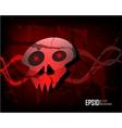 Dark scratch grunge background vector