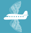 Airplane with bird wings vector
