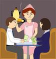 The waitress vector
