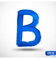 Alphabet letter b watercolor alphabet vector