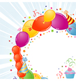 Birthday frame with balloons vector