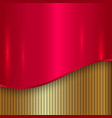 Abstract cherry red and gold metallic background vector