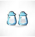 Salt and pepper grunge icon vector
