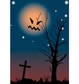 Halloween night scene vector