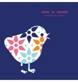 Abstract colorful stars chicken silhouette vector