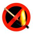 No matchstick fire sign vector