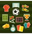 Soccer football sticker icon set in flat design vector
