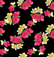 Seamless floral pattern with tropical flowers vector