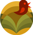 Abstract bird background vector