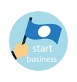 Business strategy development startup icon vector