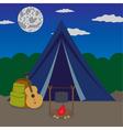 Night camping vector
