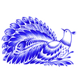 Floral decorative ornament peacock vector