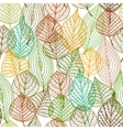 Seamless pattern of autumnal leaves vector