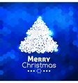 Merry christmas card abstract blue background vector