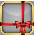 App icon with gift bow vector